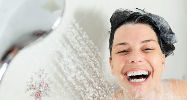 photo of woman in shower